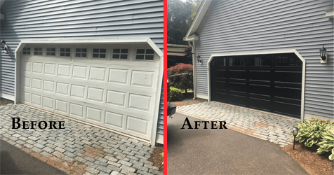 Before and After performed by Advanced Overhead Door