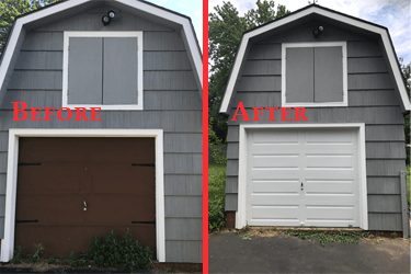 Before and After completed by Advanced Overhead Door