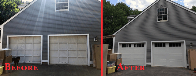 Before and After Preformed by Advanced Overhead Door